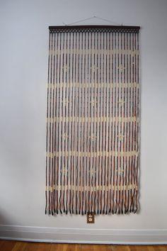Bamboo Bead Curtain - Vintage 60u0027s boho wall art & Vintage Bamboo Door Curtain Bamboo Beads Pier One 72