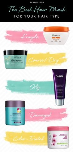Hair masks give our hair boost of nutrients and vitality. Since not all hair masks are created equal, we came up with some suggestions based on your hair type.