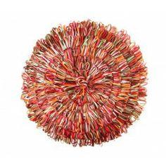 Cojín drapeado redondo deluxe lila. Cojines decorativos en Nuryba