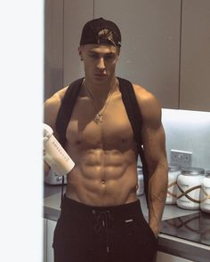 Image may contain: 1 person, standing, closeup and indoor Beautiful Boys, Gorgeous Men, Pretty Boys, Hommes Grunge, Abs Boys, Cute White Boys, Fine Boys, Muscular Men, Shirtless Men