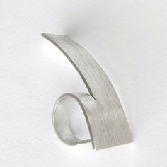 Edith Toledano - Sterling silver three finger ring. Read more at https://www.etsy.com/il-en/listing/285789811/sterling-silver-3-finger-ring-modern?ref=shop_home_active_8                                                                                                                                                                                 More