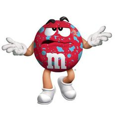 Red M&m Characters, Fictional Characters, M&m Mars, Melt In Your Mouth, Piggy Bank, Make Me Smile, Donald Duck, Ms, Happy