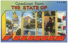 Gems: Vintage postcards from my beloved state (Maine)