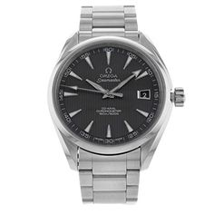 Stainless steel case with a stainless steel bracelet. Fixed stainless steel bezel. Black dial with luminous hands and luminous stick hour markers. Minute markers around the outer rim. Luminescent hand...