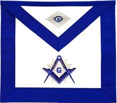Masonic Grand Lodge Master Mason Apron Stone Chain Collar Gold Embroidery Purple