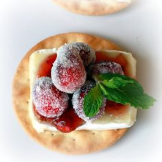 Christmas Appetizer:  Sparkling Cranberry Brie Bites