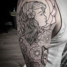 Image result for gypsy tattoo sleeve mandala