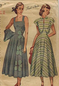 1940s Simplicity 2397 Vintage Sewing Pattern por midvalecottage, $14.00
