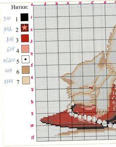 point de croix  stiletto, talons aiguilles rouges et chat- cross-stitch red stilettos & cat part 1