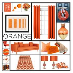 """Orange"" by summer-marin ❤ liked on Polyvore featuring interior, interiors, interior design, home, home decor, interior decorating, Sun Zero, Topshop, Lisa Perry and Vitra"