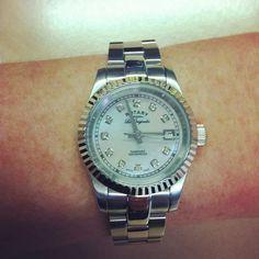 Like this Verbier ladies gem encrusted watch! #Rotary