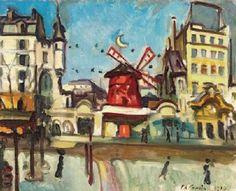 Charles Camoin  Paris  le Moulin Rouge  1910