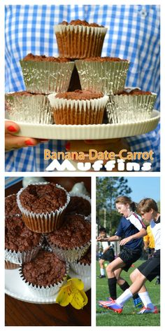 Banana-Date-Carrot Muffin Recipe {Gluten free- No Sugar Added)