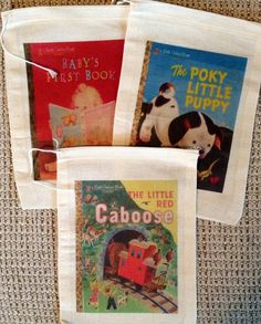 Little Golden Books Favor Bags by SweetLilysConfection on Etsy, $15.00