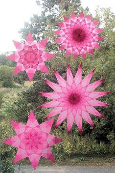 4 Rosa Fenster Sterne National Breast Cancer von harvestmoonbyhand