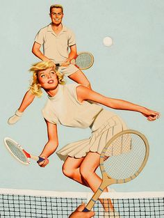 Pin do(a) paulo bentes em tennis illustration теннис, бадмин Vintage Tennis, Vintage Boys, Retro Vintage, Tennis Tips, Sport Tennis, Tennis Lessons, Play Tennis, Pin Up, Tennis Posters