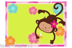Monkey Love Edible Cake Image 1 4 Sheet  EBay