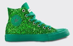 Converse Monochrome Verde Glitter