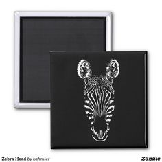 Zebra Head Magnet
