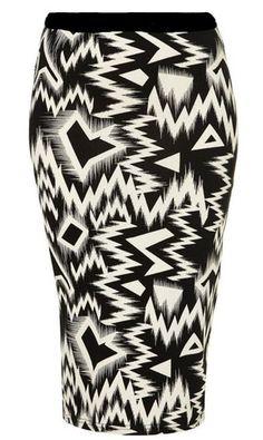 WOMENS AZTEC,ZIG ZAG,ABSTRACT PRINT BLACK / WHITE MAXI LONG SKIRT-SIZE 8-14   eBay