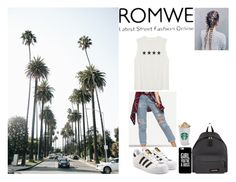 """""""..."""" by filipa-oliveira-lipa ❤ liked on Polyvore featuring adidas Originals and Eastpak"""