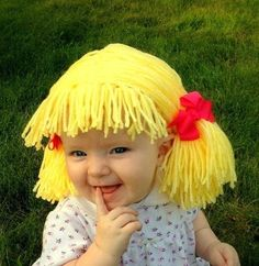 cabbage patch wigs pattern | wigs for babies that resembled the hair styles of the Cabbage Patch ...