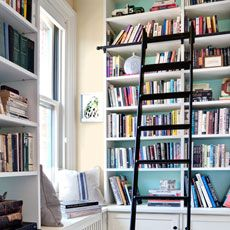 Billy Bookcase Hack with Library Ladder
