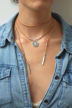 Leather Choker Necklace Wrap Choker Wrap by WalktheTalkJewelry