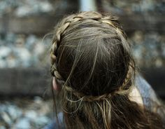 Delicate french braided crown