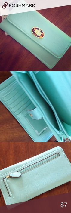 Women's Wallet NWT. Women's George brand wallet. Pretty mint color! PRICE FIRM Bags Wallets