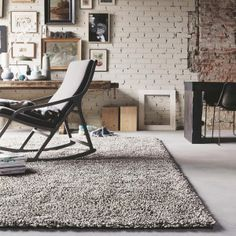 Gravel Mix 68211 Grey Wool Rug by Brink & Campman Diy Carpet, Rugs On Carpet, Hall Carpet, Carpet Ideas, Brick Feature Wall, Feature Walls, Bedroom Turquoise, Carpets Online, Rug Texture