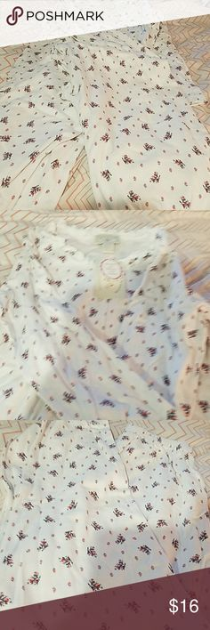 Cotton Nights sleepwear PJs top/pants New. Very cute flowers and Ruffles around the collar. It fits more like a medium cotton nights Intimates & Sleepwear Pajamas