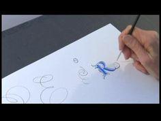 Calligraphy Alphabet N-Z : Calligraphy Flourishing Tips