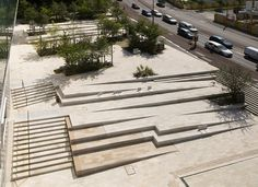 Landscape stairs - ChâtenayMalabry, France, New Town Entrance « Landscape Architecture Works Landezine Landscape Stairs, Landscape Architecture Design, Landscape Plans, Urban Landscape, Architecture Jobs, Landscape Architects, Architecture Symbols, Architecture Foundation, Landscape Timbers