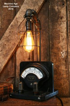 Steampunk Lamp, Power Meter and Tubes #318