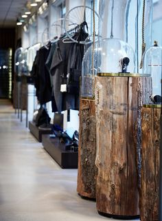 Interior design, retail, Jewelry store. Furniture design, wood, glass and brass. By Anni gram.