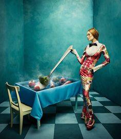 fashion style woman beauty photography blue