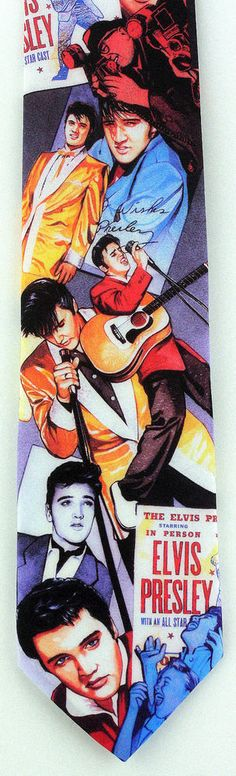 New Elvis Presley Mens Necktie King Singer Guitar Ralph Marlin Music Neck Tie #RalphMarlin #NeckTie