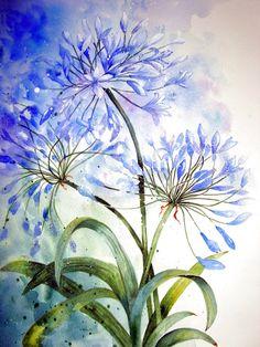 Цветочные акварели Художница: Yvonne Harry