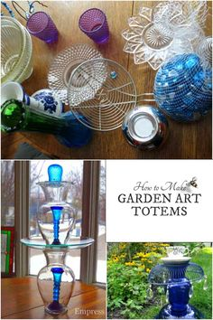 These garden art totems and bird baths are easy to…