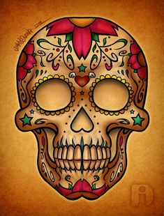 art, day of the dead, dia de los muertos, skull, sugar skull