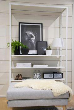 talo markki - storage shelf in livingroom