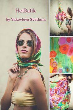 $88 Floral silk scarf Luxury wrap Hand painted silk shawl Wedding silk scarf Multicolor women wrap Pink flowers scarf Violet green batik shawl