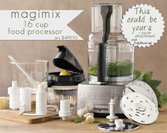 Win a gorgeous Magimix 16-cup food processor and juicer attachment at TidyMom.net