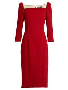 Square-neck stretch-wool pencil dress | Dolce & Gabbana | MATCHESFASHION.COM US