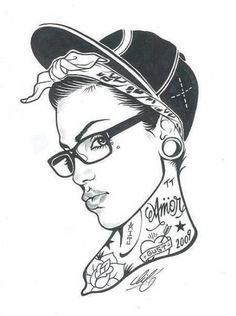 hip hop girl drawing - Google Search                                                                                                                                                     More