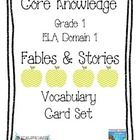 All lesson vocabulary for Core Knowledge Grade 1 Domain 1 Fables and Stories Unit of Listening & Learning Part of speech added to each card.   ...