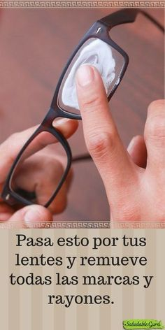 Clean your glasses with marks and dirt with two simple ingredients. - Home Cleaning