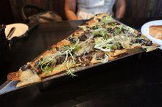 wild mushroom flatbread: portobello, shiitake, oyster, field mushrooms ...