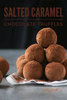 Two recipes in one - salted caramel sauce and salted caramel chocolate truffles. Great for gifting, great for gobbling!